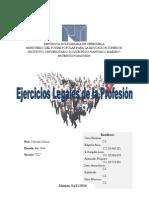 Ejercicios Legales de La Profesion - Introduccion ING.civil