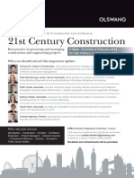 Olswang's 2014 Construction Law Conference