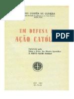Em Defesa Da Acao Catolica 1943