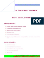 Economics Preliminary syllabus