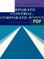 Corporate Control, Corporate Power