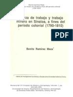 11 Fuerza de Trabajo Minera en Sinaloa 1810