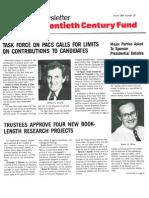 The Twentieth Century Fund Newsletter