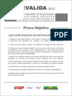 Prova Objetiva Cinza 2012