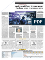 Se propone modificar la Ley del Derecho de Autor para evitar excesos de la Apdayc