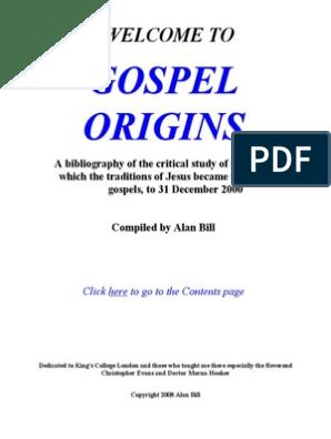 Gospel Origins | Gospels | Religious Texts