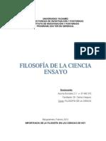 ENSAYO FILOSOFÍA DE LA CIENCIA