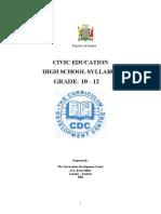 Civic Education Syllabus Grade 10-12