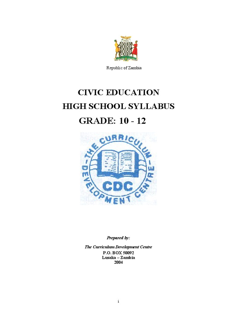 Civic Education Syllabus Grade 10-12 | Governance | Human Rights