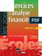 Exercices Analyse Financiere