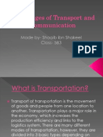 Advantages of Transport and Communication