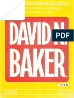 David Baker - Improvisational Patterns, The Bebop Era 1