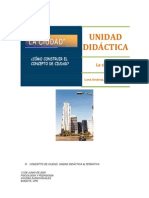 Ciudad. Unidad didáctica