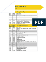 Sem Asia 2014 Tentative Programme