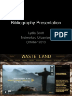 Bibliography Presentation 15 October