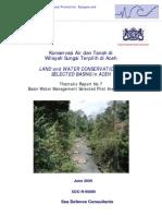 Konservasi Air Dan Tanah Di Wilayah Sungai Terpilih Di Aceh