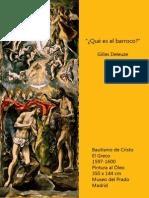 Deleuze - ¿Qué es el barroco?