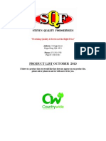 SQF Product List