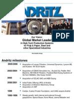 Andritz. Presentacion 2006 MEX Sales Seminar Welcome