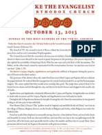 October 13, 2013 Sunday Bulletin St Luke Greek Orthodox Church