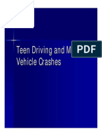 Teen Driving Vehicle Crashes Presentation