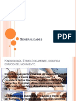 Generalidades de Kinesiologia