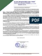 COMUNICADO REFERENTE A LOS TRES DÍAS DE PERMISO CON GOCE DE REMUNERACIONES