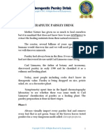 Therapeutic Parsley Drink Recipe, Symptometry