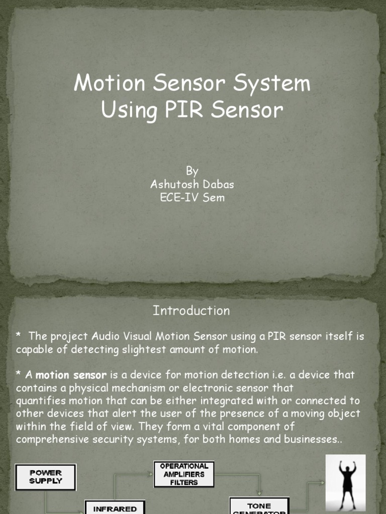 Project Pir Motion Sensor Electrical Engineering Electronic Sound Detector Using Lm324