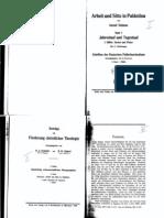 Dalman 1928 Arbeit Sitte Palaestina I Pt1 Contents