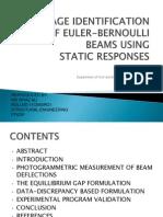 damage identification of Euler Bernoulli beams using static responses