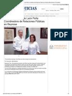 17-10-2013 'Designan a Alicia de León Peña Coordinadora de Relaciones Públicas en Reynosa'