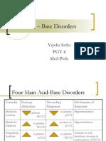 Acid – Base Disorders1