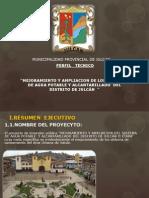 ESTUDIO DE PRE INVERSIÓN  A NIVEL DE PERFIL