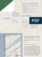 """Bernard HUREZ, Charles PAUTRAT - Pour un nouvel objectif à long terme en matière de téléphone,  L'Écho des Recherches"""", n° 72, avril 1973"""