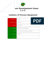 PR-1076 - Isolation of Process Equipment Procedure