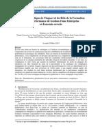 Analyse synoptique de l'impact et du rôle de la formation dans la performance de gestion d'une entreprise en économie ouverte
