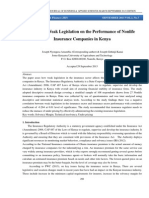 Effects of Weak Legislation on the Performance of Nonlife Insurance Companies in Kenya: