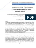 Factors Affecting Innovation Capacity in the Manufacturing Industry in Nakuru County Kenya