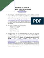 SIMULASI BASIC VoIP  DENGAN CISCO 1750 SERIES
