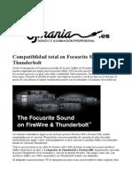 Interfaz audio Saffire con puerto Thunderbolt, www.djmania.es