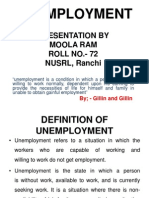 Presentation on Unemployment