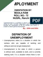 Presentation on Unemployment