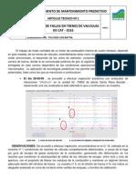 ARTICULO TECNICO Nº 1 - DETECCION DE FALLAS EN TRENES DE VALVULAS DE CAT - 3516.