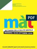 """""""Mat"""" Settimana della Salute Mentale 2013"""