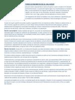 Sectores Economicos de El Salvador