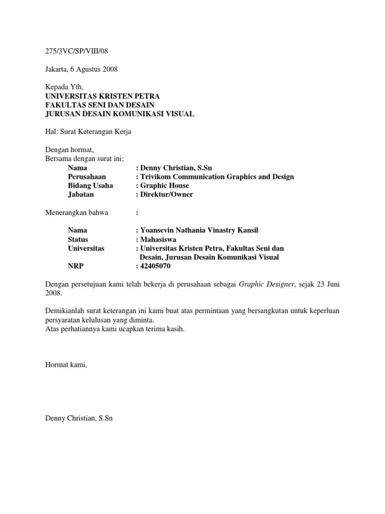 Contoh Surat Balasan Perusahaan Untuk Kerja Praktek