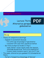 Managerial Economics Lecture 13 Global Alternative 02