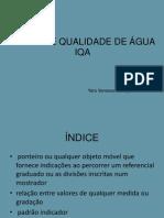 ÍNDICE DE QUALIDADE DE ÁGUA