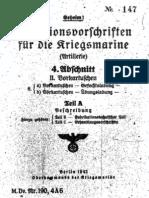 """M.Dv.190/4A6"" Munitionsvorschriften fur die Kriegsmarine (Artillerie) - 1942"